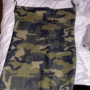 Tight camo body con dress
